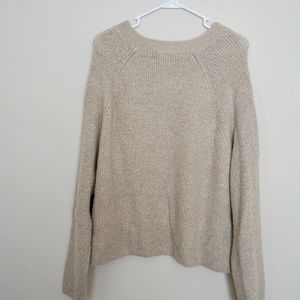 Soft Knitted Sweater in Beige
